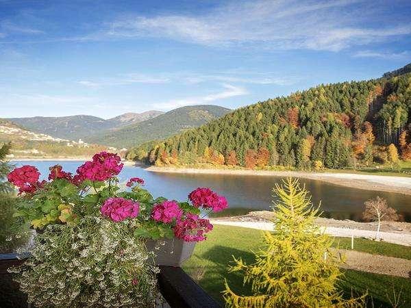 vista del lago dall'albergo