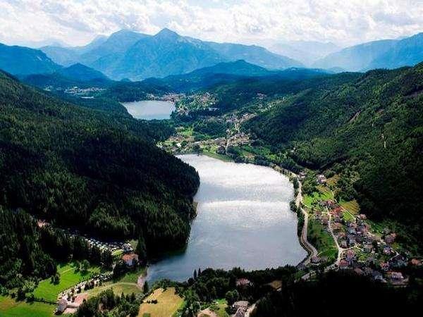 Vista sui laghi di Piné